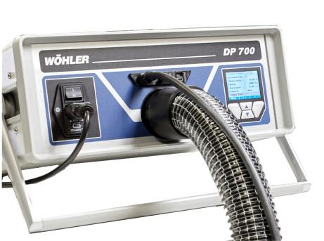 Monipuolinen ilmanvaihdon tiiviystesteri DP 700